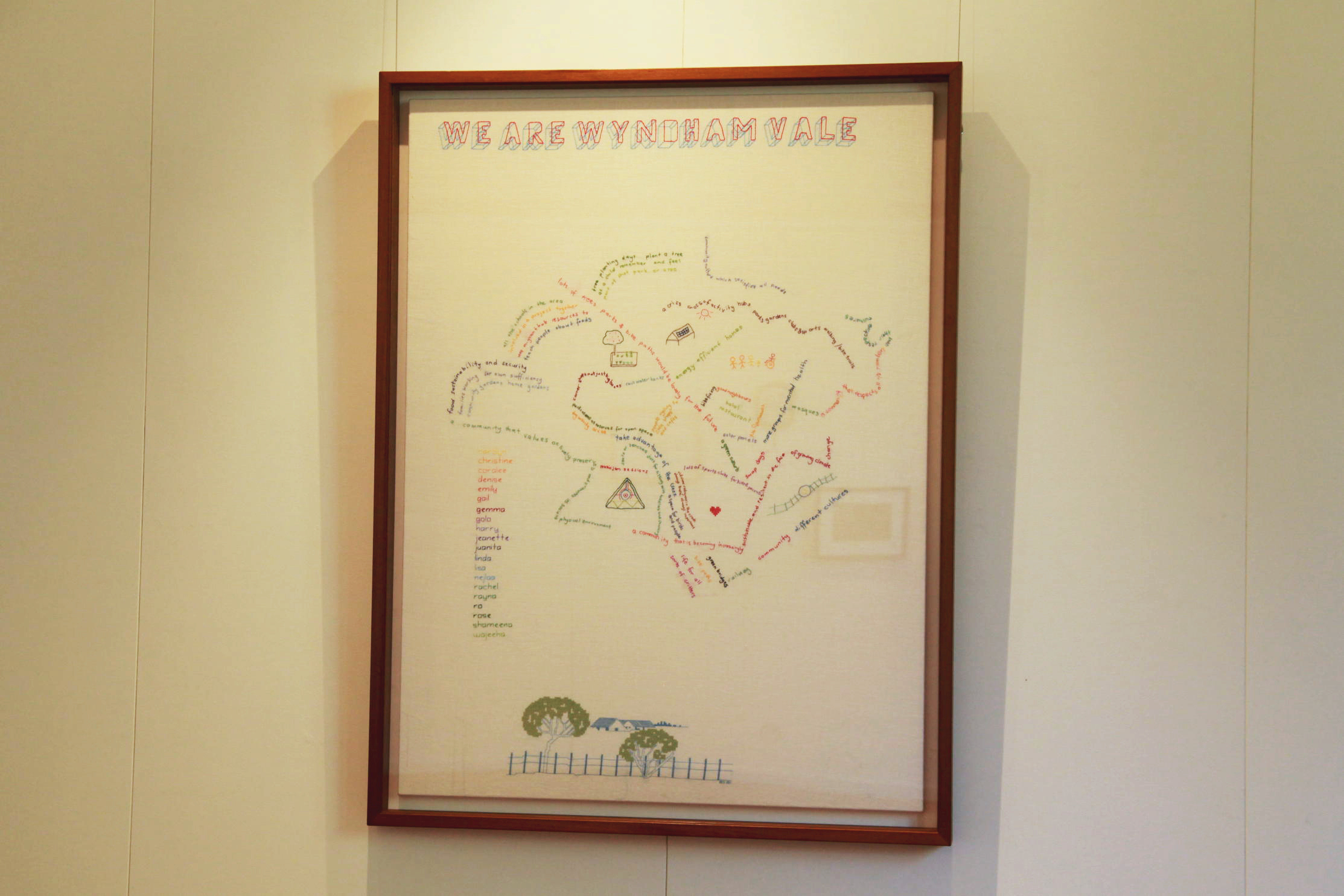 WE Are Wyndham Vale framed embroidery project
